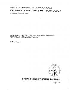 Page 1 DIVISION OF THE HUMANTIES AND SOCAL SCIENCES ...