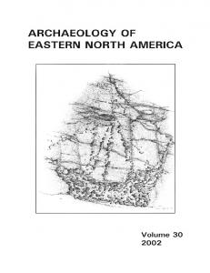 Page 1 EASTERN NORTH AMERICA ARCHAEOLOGY OF Volume 3O ...