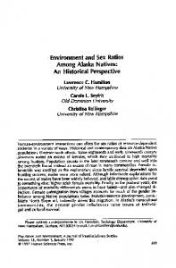 Page 1 Environment and Sex Ratios Among Alaska Natives: An ...