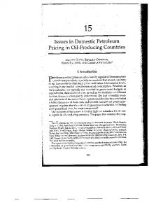 Page 1 f ; i. ! f i. : f - 15 Issues in Domestic Petroleum Pricing in Oil ...