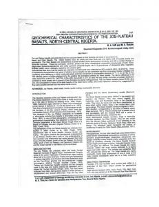 Page 1 GLOBAL. JOURNAL OF GEOLOGICAL SCIENCES VOL2, NO ...