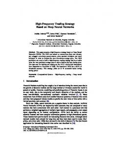 Page 1 High-Frequency Trading Strategy Based on Deep Neural ...