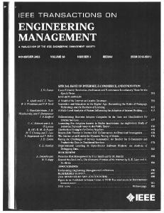 Page 1 IEEE TRANSACTIONS ON ENGINEERING MANAGEMENT A ...