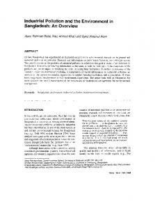 Page 1 Industrial Pollution and the Environment in Bangladesh: An ...