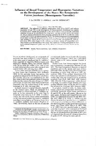 Page 1 Influence of Brood Temperature and Hygrometry Variations on ...