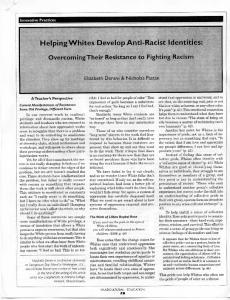 Page 1 - Innovative Practices Helping Whites Develop Anti-Racist ...