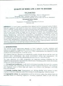 Page 1 Innovative Practices in Management QUALITY OF WORK LIFE ...