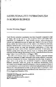 Page 1 INSTITUTIONALIZED PATRIMONIALISM |N KOREAN ...