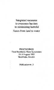 Page 1 Integrated measures to overcome barriers to minimizing ...
