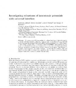 Page 1 Investigating robustness of interatomic potentials with ...