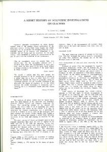Page 1 Journal of Glaciology, Special Issue, 1987 A SHORT ...