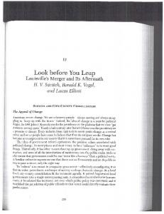 Page 1 Look before You Leap Louisville's Merger and Its Aftermath ...
