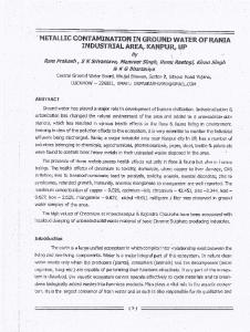 Page 1 METALLIC CONTAMINATION IN GROUND WATER OF RANIA ...