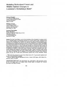 Page 1 Modeling Bottomland Forest and Wildlife Habitat Changes in ...
