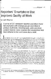 Page 1 Molyneux - 83 Reporters' Smartphone Use mproves Quality of ...