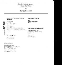 Page 1 Moody Medical Library Copy Services for James Goodwin ...