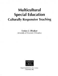 Page 1 Multicultural Special Education Culturally Responsive ...