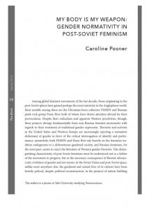 Page 1 MY BODY S MY WEAPON: GENDER NORMATIVITY IN ...