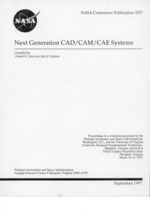 Page 1 NASA Conference Publication 3357 Next Generation CAD ...