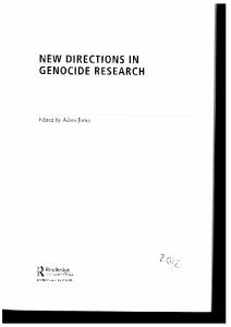 Page 1 NEW DIRECTIONS IN GENOCDE RESEARCH Edited by ...