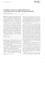 Page 1 Oecologia (1989) 78; 165-175 Geographic variation and ...