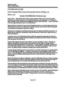 Page 1 of 1 FOR IMMEDIATE RELEASE Contact: Gregory S. Wilson ...