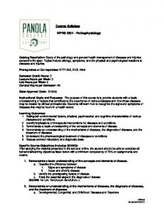 Page 1 of 6 Course Syllabus HPRS 2301 ... - Panola College