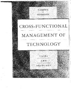 Page 1 Page 2 | | : CROSS-FUNCTIONAL MANAGEMENT OF ...