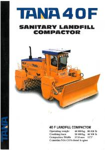 Page 1 Page 2 TANA 40 F LANDFILL COMPACTOR DIMENSIONS ...