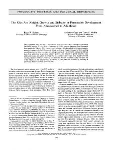 Page 1 PERSONALITY PROCESSES AND INDIVIDUAL ...