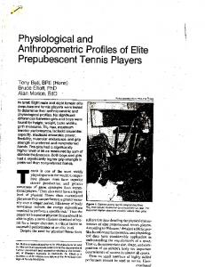 Page 1 * Physiological and Anthropometric Profiles of Elite Tony Buti ...
