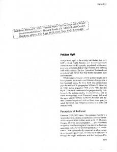 Page 1 Pristine Myth Pristine Myth The pristine myth is the widely held ...