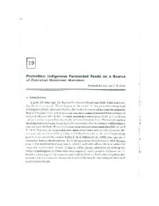 Page 1 Probiotics: Indigenous Fermented Foods as a Source of ...
