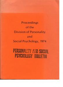 Page 1 Proceedings Of the Division of Personality and Social ...