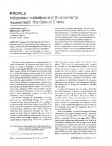 Page 1 PROFILE Indigenous Institutions and Environmental ...