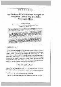 Page 1 R E S E A R C H Application of Finite Element Analysis to ...