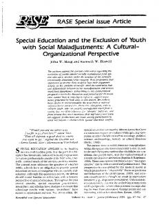 Page 1 RASE Special Issue Article Special Education and the ...