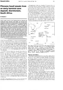 Page 1 Research Letters Pliocene fossil WOOds from an early ...