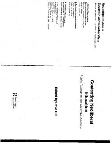 Page 1 Routledge Studies in Education and Neoliberalism EDITED BY ...