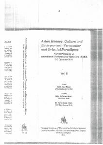 Page 1 s . Asian History, Culture and Environment: Vernacular and ...