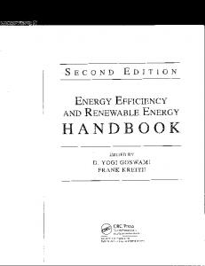 Page 1 S E C O N D E D I T I O N ENERGY EFFICIENCY AND ...