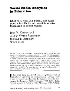 Page 1 Social Media Analytics in Education What Is It, Hou Is It Useful ...