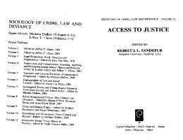 Page 1 SOCIOLOGY OF CRIME, LAW AND DEVANCE Series Editors ...