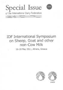 Page 1 . Special Issue @ of the International Dairy Federation IDF ...