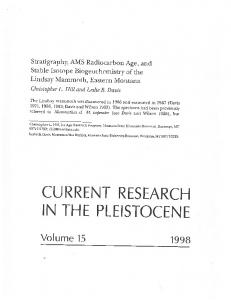 Page 1 Stratigraphy, AMS Radiocarbon Age, and Stable Isotope ...