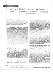 Page 1 THE CASE STUDY AS ASCIENTIFIC METHOD FOR ...