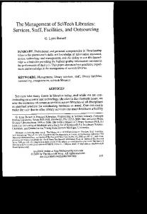 Page 1 The Management of SciTech Libraries: Services, Staff ...