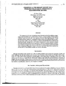 Page 1 w l ARCHAEOLOGY OF EASTERN NORTH AMERICA 41 ...