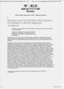 Page 1 World Aquaculture Society: Asian-Pacific Aquaculture 2007 ...