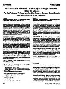 Painful peripheral polyneuropathy after bariatric surgery